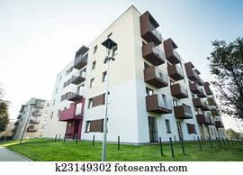 Newly built apartment house