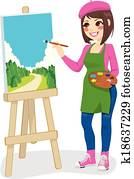 Artist Painting Park