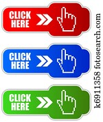 Vector click here button