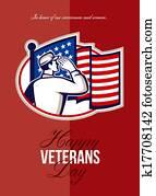Veterans Day Modern American Soldier Card