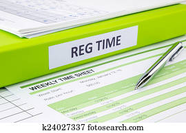 stock images of daily time record with blank payroll time sheet