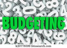 Budgeting 3d Word Numbers Background Financial Money Plan