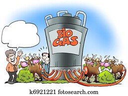 Cows convert biogas to fuel