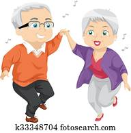 Senior Couple Dance