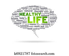 Speech Bubble - Healthy Life