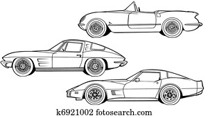 Three Generations of Sports Car