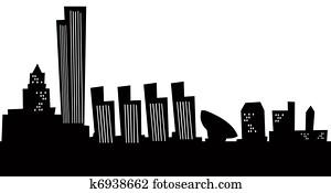 Cartoon Albany Skyline