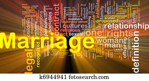 Marriage background concept glowing