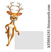 cute Deer cartoon character