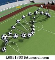 DNA String Of Soccer Player