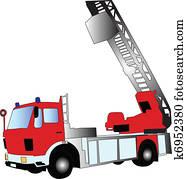Klip Art Itfaiye Arabası K6810667 Klipart Ilüstrasyon