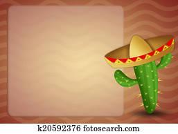 cactus with sombrero