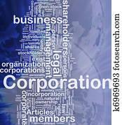 Corporation background concept