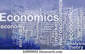 Economics background concept