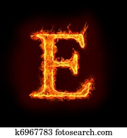 fire alphabets, E