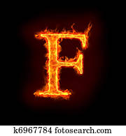fire alphabets, F