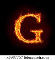 fire alphabets, G