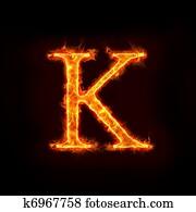 fire alphabets, K