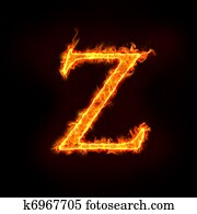 fire alphabets, Z