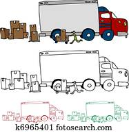 Moving Truck Profile View