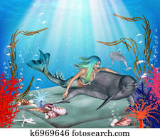 The Mermaid and the Dolphin