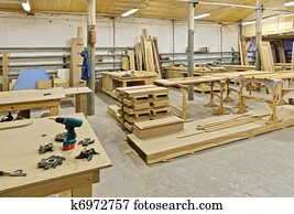 a plant for manufacturing of furniture