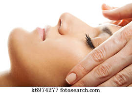 Facial massage isolated