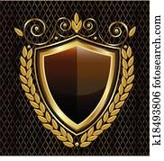 Gold shield logo