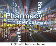 Pharmacy background concept glowing