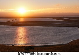 Sunset in Coyote Hills Regional Park, east San Francisco Bay Area, Fremont, California
