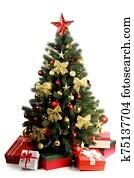 weihnachtsbaum, in, winterbilder
