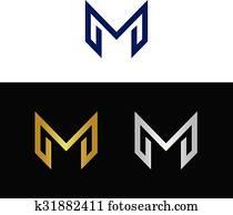 Geometric modern letter M