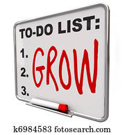 To-Do List - Grow Word on Dry Erase Board