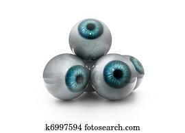 3d illustration of human eye