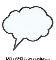 Empty high-quality speech bubble or tag cloud