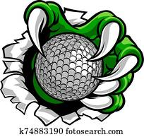 Golf Ball Claw Monster Sports Hand