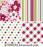 seamless patterns, fabric texture