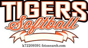 Tigers Softball Design With Banner