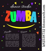 Bright vertical poster Design for dance Studio.