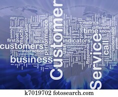 Customer service background concept