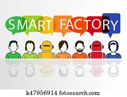 Smart Factory concept as vector illustration