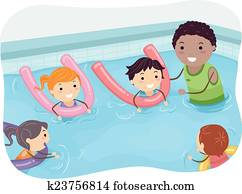 Stickman Kids Swimming Coach