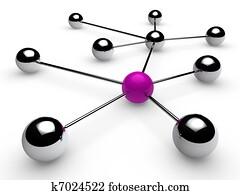 3d chrome purple network
