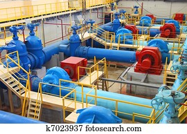 Water pumping station
