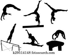 Female Gymnastic Silhouettes