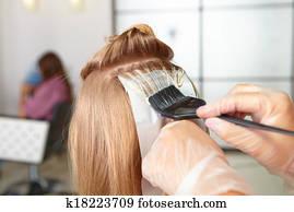 Hair salon. Coloring.