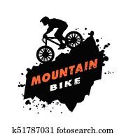 mountain-bike, versuche, emblem.