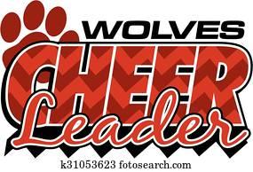 wolves cheerleader