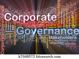Corporate governance background concept glowing