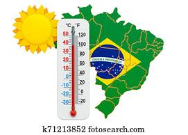 Heat in Brazil concept. 3D rendering